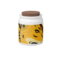 Arabian Wolf Head Mascot Candy Jar