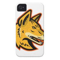 Arabian Wolf Head Mascot Case-Mate iPhone 4 Case