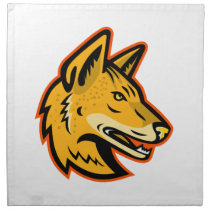 Arabian Wolf Head Mascot Cloth Napkin
