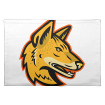 Arabian Wolf Head Mascot Cloth Placemat