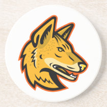 Arabian Wolf Head Mascot Coaster