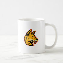 Arabian Wolf Head Mascot Coffee Mug