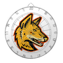 Arabian Wolf Head Mascot Dart Board