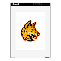 Arabian Wolf Head Mascot Decal For iPad