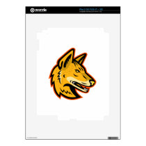 Arabian Wolf Head Mascot Decal For iPad 2