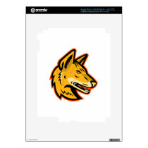 Arabian Wolf Head Mascot Decal For iPad 3