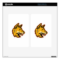 Arabian Wolf Head Mascot Decal For Kindle Fire