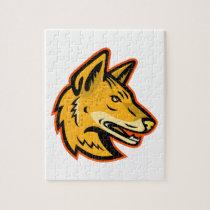Arabian Wolf Head Mascot Jigsaw Puzzle