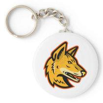 Arabian Wolf Head Mascot Keychain