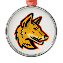 Arabian Wolf Head Mascot Metal Ornament
