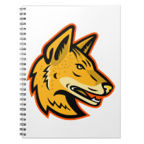 Arabian Wolf Head Mascot Notebook