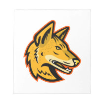 Arabian Wolf Head Mascot Notepad