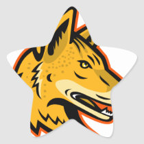 Arabian Wolf Head Mascot Star Sticker