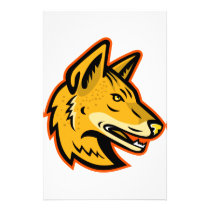 Arabian Wolf Head Mascot Stationery