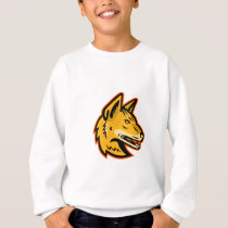 Arabian Wolf Head Mascot Sweatshirt