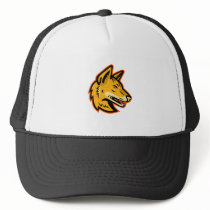 Arabian Wolf Head Mascot Trucker Hat