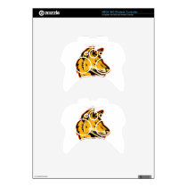 Arabian Wolf Head Mascot Xbox 360 Controller Decal