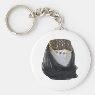 ArabianNightsHeadwear082909 Basic Round Button Keychain