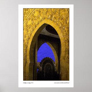 Arabic Archades Poster