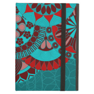 Arabic blue ornate background iPad air cases