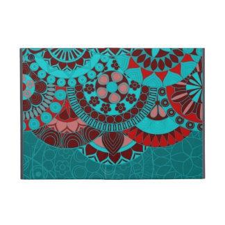 Arabic blue ornate background iPad mini case