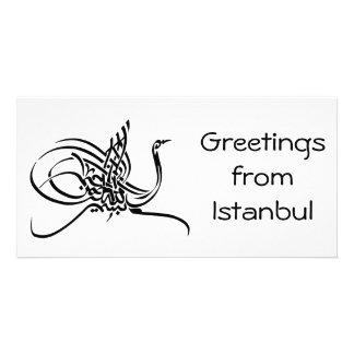 arabic calligraphy customized photo card