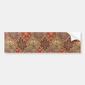 Arabic Carpet Design Car Bumper Sticker