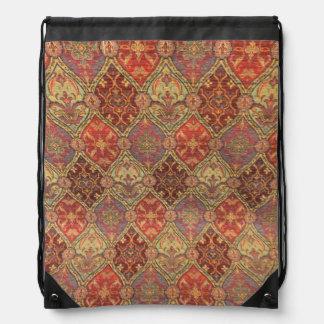 Arabic Carpet Design Drawstring Bag