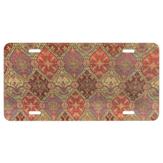 Arabic Carpet Design License Plate