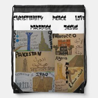 Arabic cultures/languages christian bag cinch bag