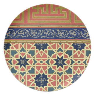 Arabic decorative designs (colour litho) dinner plate