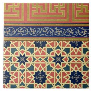 Arabic decorative designs (colour litho) tile