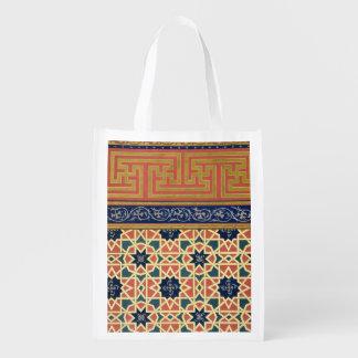 Arabic decorative designs (colour litho) market tote