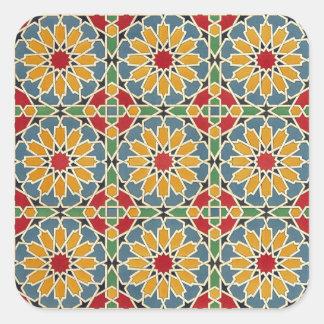 Arabic Design #7 at Emporio Moffa Square Sticker
