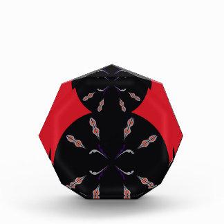 Arabic elements black on red award
