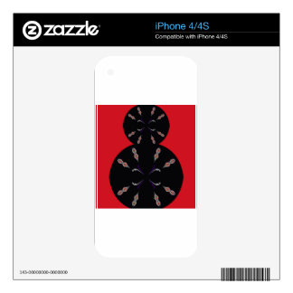 Arabic elements black on red skins for iPhone 4