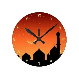 Arabic Evening Sky - Round Clock