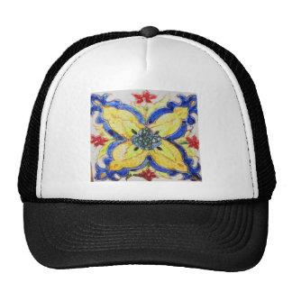 Arabic floral pattern motif tile 1600s trucker hat
