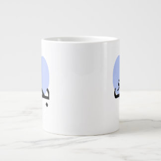 Arabic I Love You Blue Heart.png Large Coffee Mug