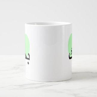 Arabic I Love You Green Hearts.png Large Coffee Mug