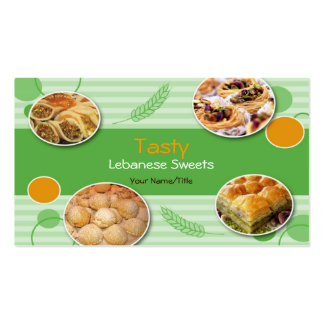 Arabic Lebanese Sweets Business Card
