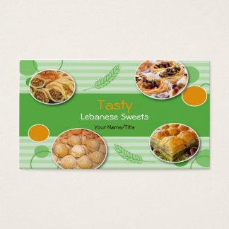 Arabic/Lebanese Sweets Business Card