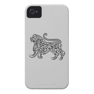 arabic lion calligraphy Case-Mate iPhone 4 case