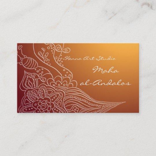 Arabic Oriental Henna Style Business Card Zazzle Com