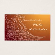 Arabic Oriental Henna Style Business Card at Zazzle