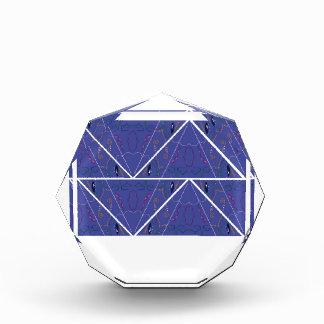 Arabic Ornaments blue. Original design Acrylic Award