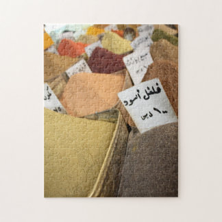 Arabic spices and herbs bazaar colors writing jigsaw puzzles
