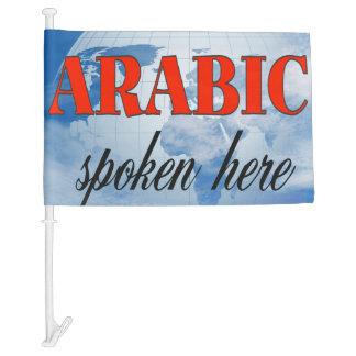 Arabic spoken here cloudy earth car flag