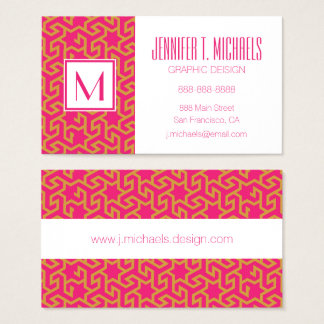 Arabic Star Shaped Pattern Business Card