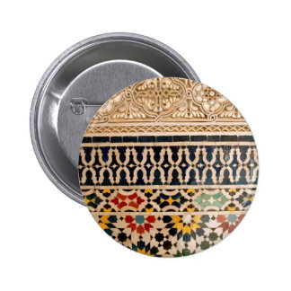 Arabic Texture Tiles Pinback Button